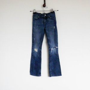 ❤77Kids Distressed,  Boot Jeans Size 8 Adj…